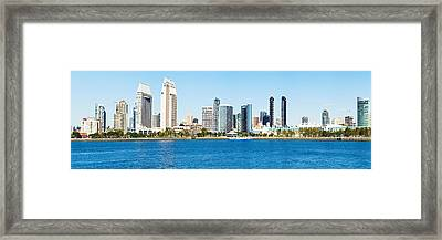 San Diego Cityscape Panorama Framed Print