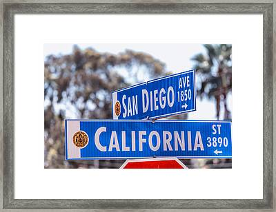 San Diego Crossing Over California Framed Print