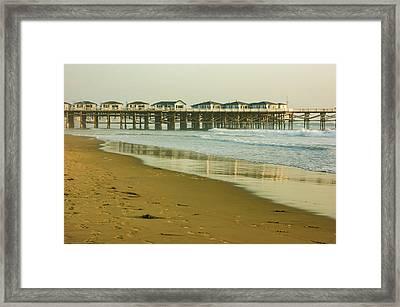 San Diego Crystal Pier Sunset Framed Print