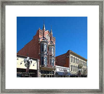 San Diego Gaslamp District Framed Print