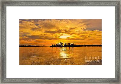 San Diego Golden Sky By Jasna Gopic Framed Print