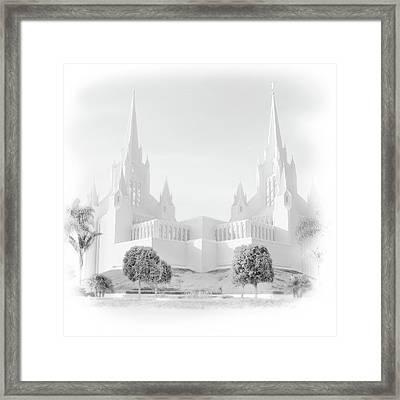 San Diego Lds Temple Framed Print
