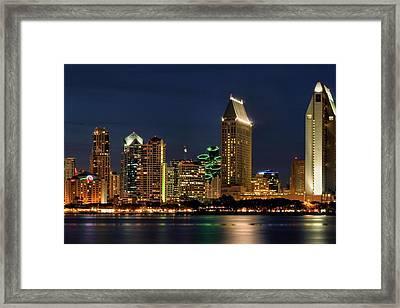 San Diego Night Framed Print