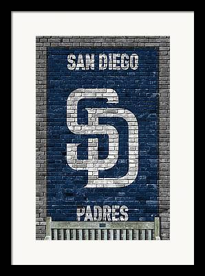 San Diego California Baseball Stadiums Paintings Framed Prints