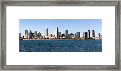 San Diego Panorama Framed Print by Paul Velgos
