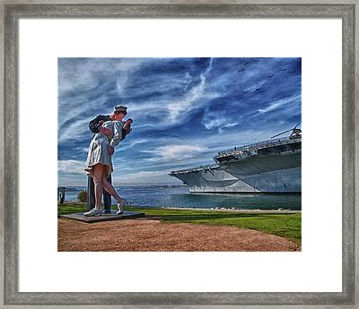 San Diego Sailor Framed Print