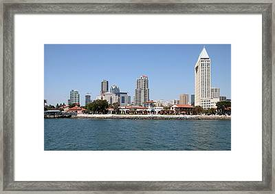 San Diego Skyline 3 Framed Print by Joseph R Luciano