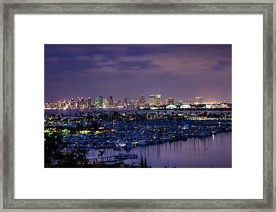 San Diego Skyline 4 Framed Print