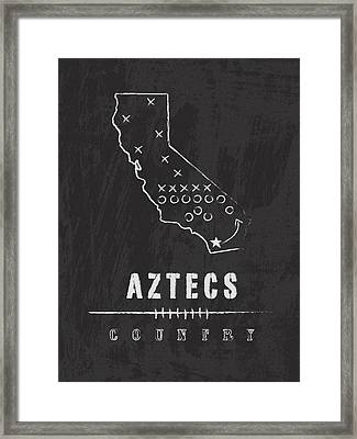 San Diego State Aztecs Country Framed Print