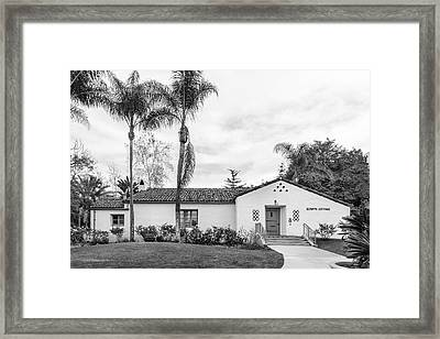 San Diego State University Scripps Cottage Framed Print by University Icons