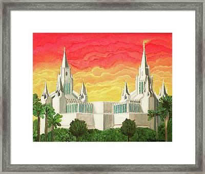 San Diego Temple Framed Print