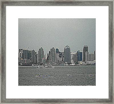 San Diego Waterfront Framed Print
