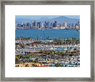 San Diego Yacht Club Framed Print by Russ Harris