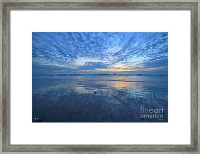 San Elijo Blue  Framed Print