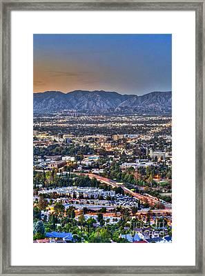 San Fernando Valley Vertical Framed Print