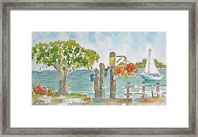 San Fran Bay From Sausalito Framed Print by Pat Katz