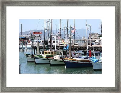 San Fran Boats Framed Print by Melanie Beasley