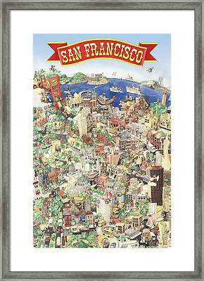 San Francisco - Where East Meets West Framed Print by Philippe Plouchart