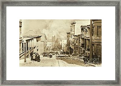 San Francisco 1906 Earthquake And Fire Framed Print by Padre Art