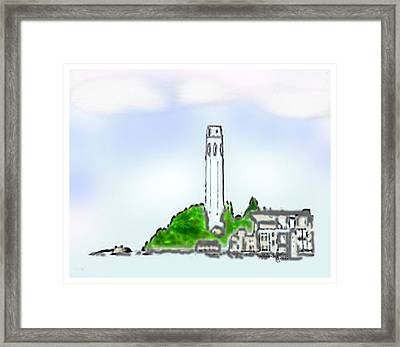 San Francisco 1986 Telegraph Hill The Museum Zazzle Gifts Watercolor 1 Jgibney 2010 Framed Print