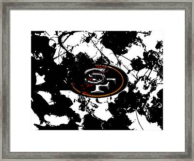 San Francisco 49ers 1a Framed Print by Brian Reaves