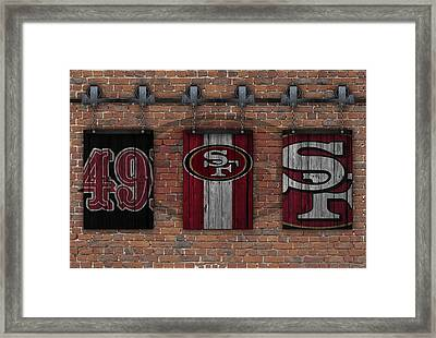 San Francisco 49ers Brick Wall Framed Print by Joe Hamilton