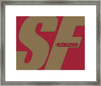 San Francisco 49ers City Name Framed Print by Joe Hamilton