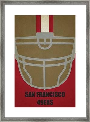 San Francisco 49ers Helmet Art Framed Print by Joe Hamilton