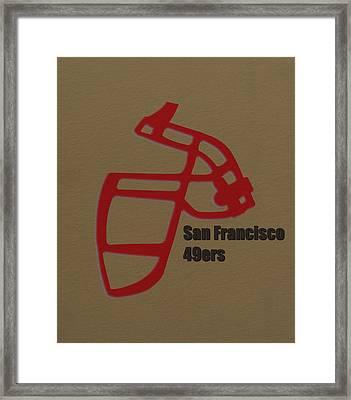 San Francisco 49ers Retro Framed Print by Joe Hamilton