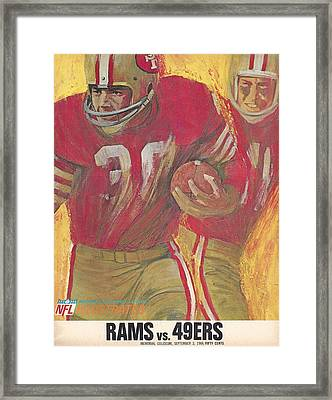 San Francisco 49ers Vintage Program 2 Framed Print