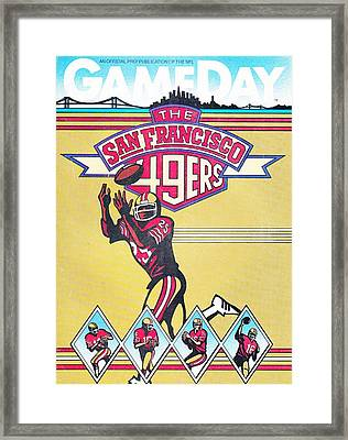 San Francisco 49ers Vintage Program Framed Print