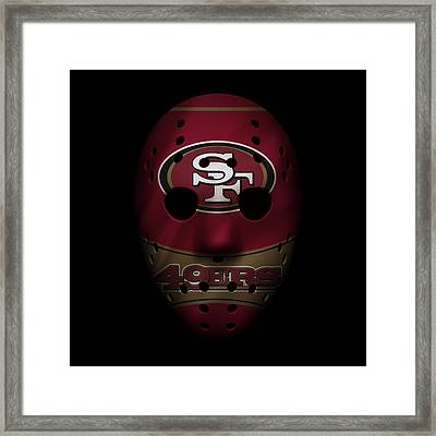 San Francisco 49ers War Mask Framed Print