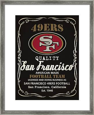 San Francisco 49ers Whiskey Framed Print