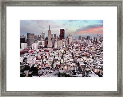 San Francisco Aerial Skyline Framed Print by Ryan McGinnis
