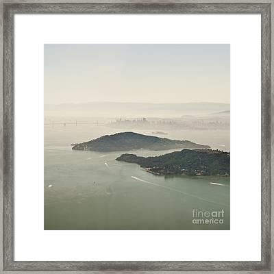 San Francisco Angel Island And Bay Framed Print by Eddy Joaquim