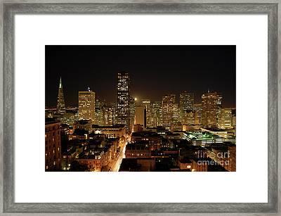 San Francisco At Night Framed Print