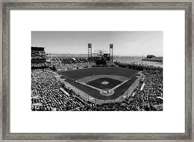 San Francisco Ballpark Bw Framed Print by C H Apperson