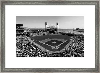 San Francisco Ballpark Bw Framed Print