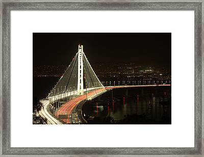 San Francisco Bay Bridge New East Span Framed Print