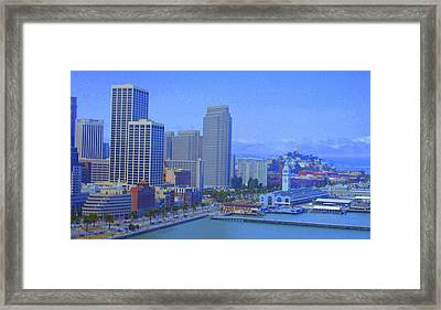 San Francisco Bay  Framed Print by Julie Lueders