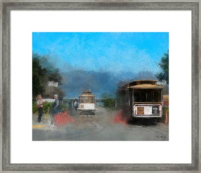 San Francisco Cable Car Framed Print by Fred Baird