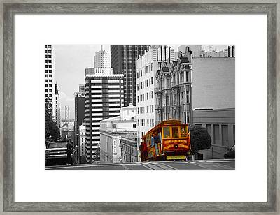 San Francisco - Red Cable Car Framed Print