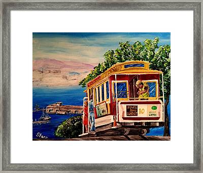 San Francisco Cable Car Framed Print by Irving Starr