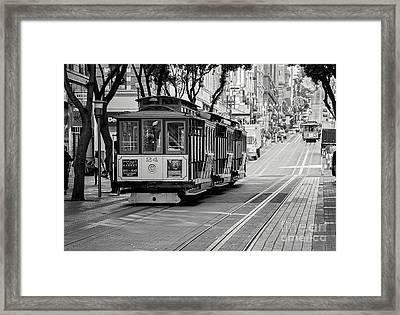 San Francisco Cable Cars Framed Print by Eddie Yerkish