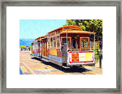 San Francisco Cablecar At Fishermans Wharf . 7d14097 Framed Print