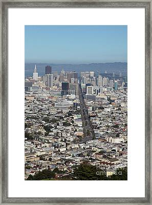 San Francisco California From Twin Peaks 5d28037 Framed Print