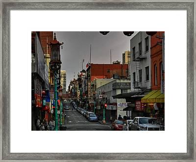 San Francisco - Chinatown 001 Framed Print