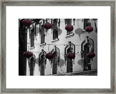 San Francisco Chinatown Framed Print by Larry Butterworth