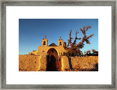 San Francisco Church Chiu Chiu Chile Framed Print