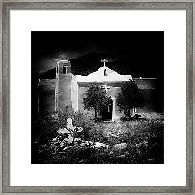 San Francisco Church In New Mexico Framed Print